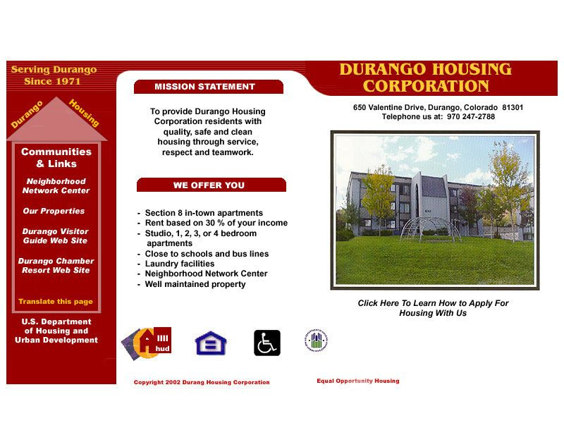 Durango Housing Corporation Colorado