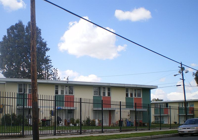 San Fernando Gardens Los Angeles Public Housing Apartments